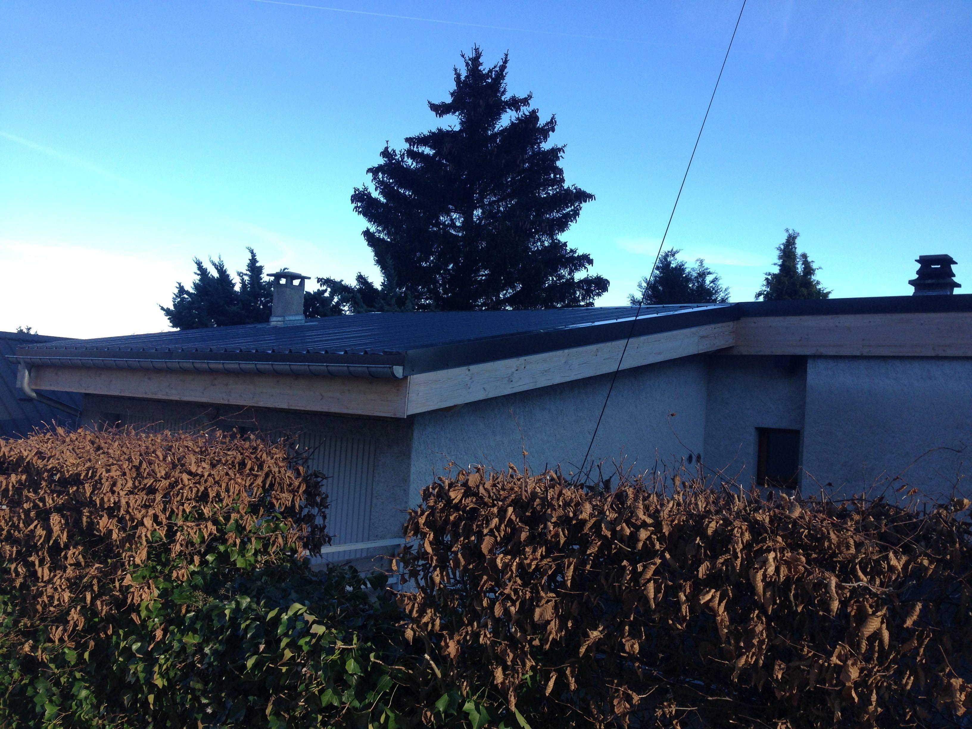 Rénovation couverture bac acier - Saint Nizier du Moucherotte